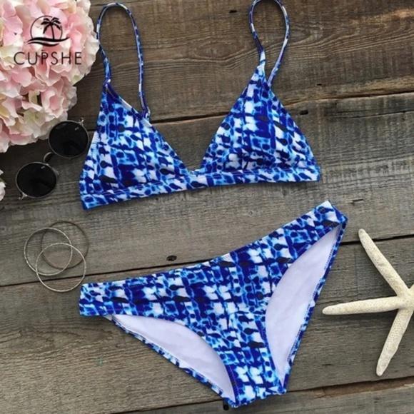 Cupshe Other - NEW! Cupshe Tie Dye Look Bikini • Size M